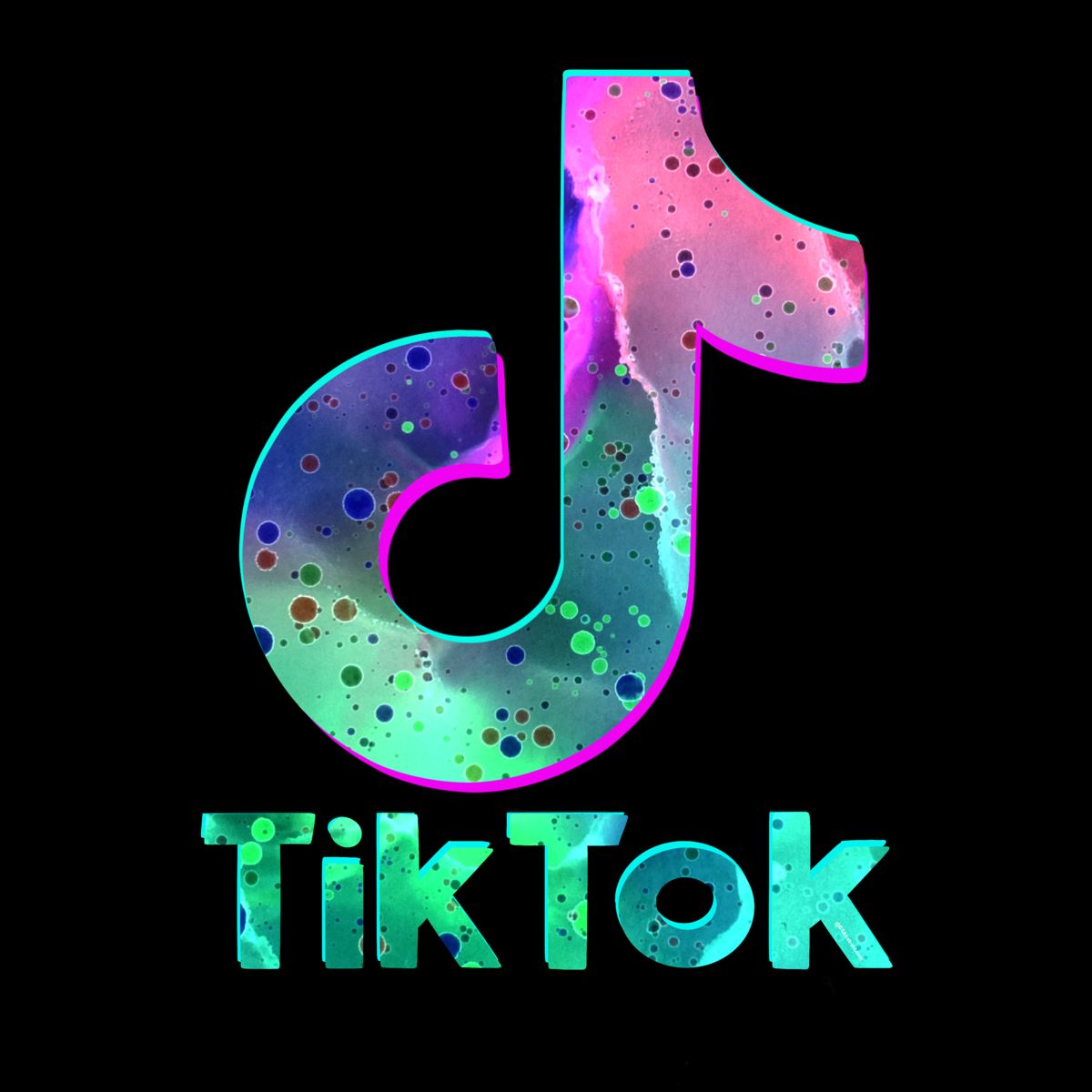 Inspired Tik Tok Logo For The Stem Lover That Loves To Love Tik Tok By Bsabstracts Redbubble In 2021 Black And White Picture Wall Watercolor Splatter Art Logo