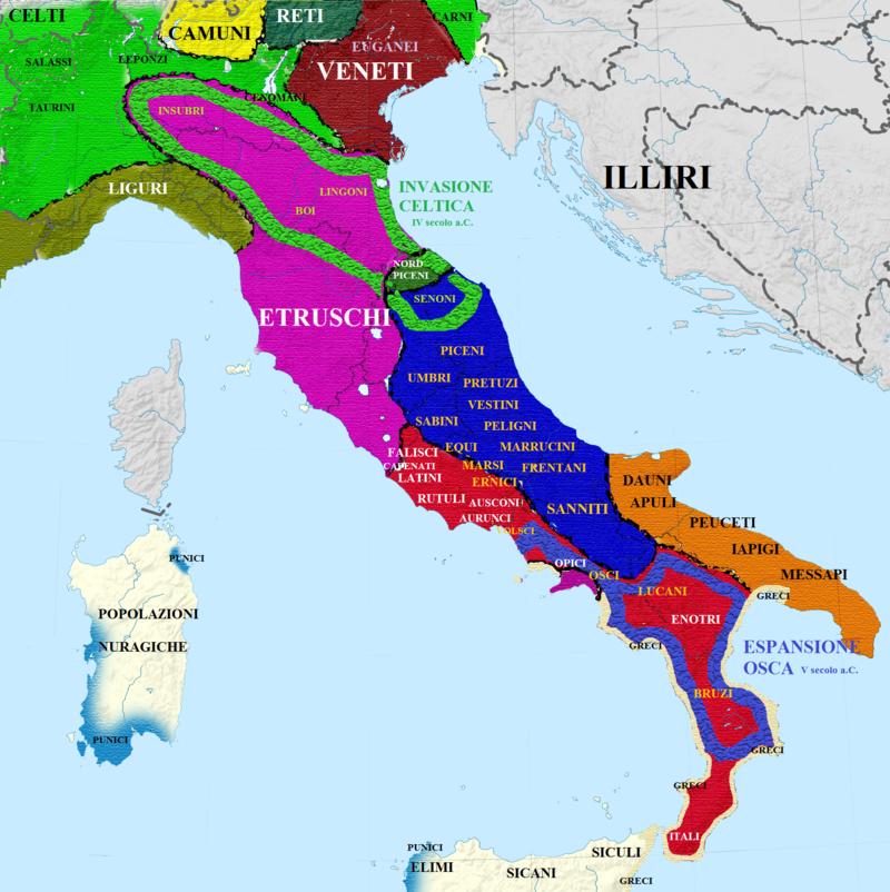 Mappa Dellitalia Antica.Guerre Sannitiche Impero Romano Mappe Mappe Antiche