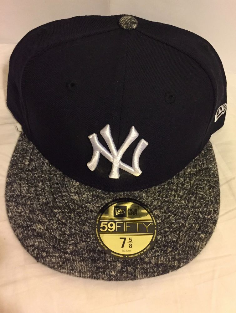 d0932b3be82 New Era 59Fifty New York NY Yankees Fitted Hat (Dark Navy Gray) MLB Cap 7  3 4  fashion  clothing  shoes  accessories  mensaccessories  hats (ebay  link)