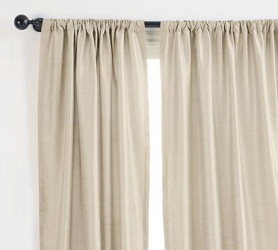 Dupioni Silk Rod Pocket Curtain Brownstone Custom Drapes Dupioni Silk Silk Drapes