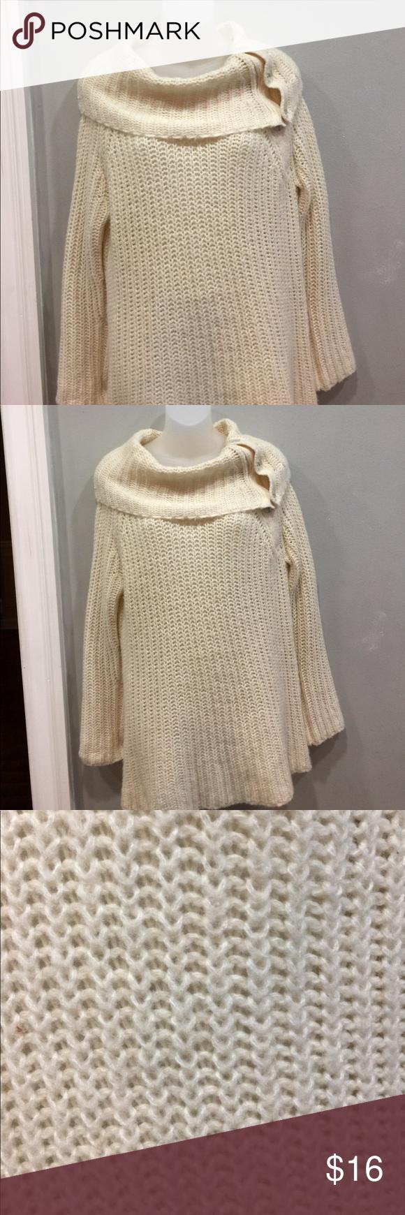 GAP Shrug Shoulder Knit oversized Sweater Sz Large | Scoop neck ...