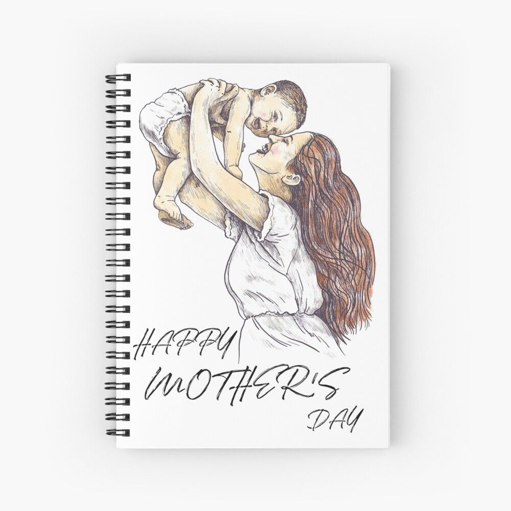'Happy Mother's Day, Best Gifts For Your Mom' Spiral Notebook by ecomdesign