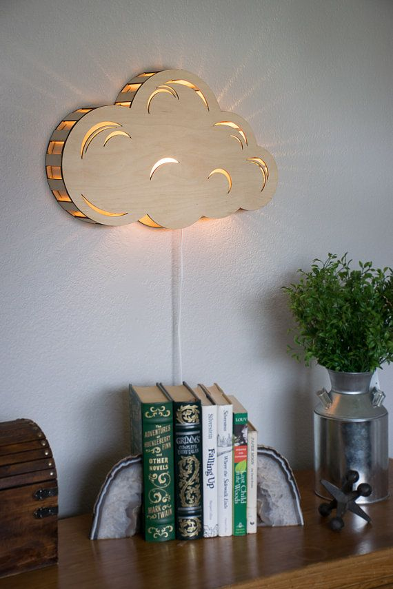 Cloud Wall Hanging Night Light By Lightingbysara On Etsy