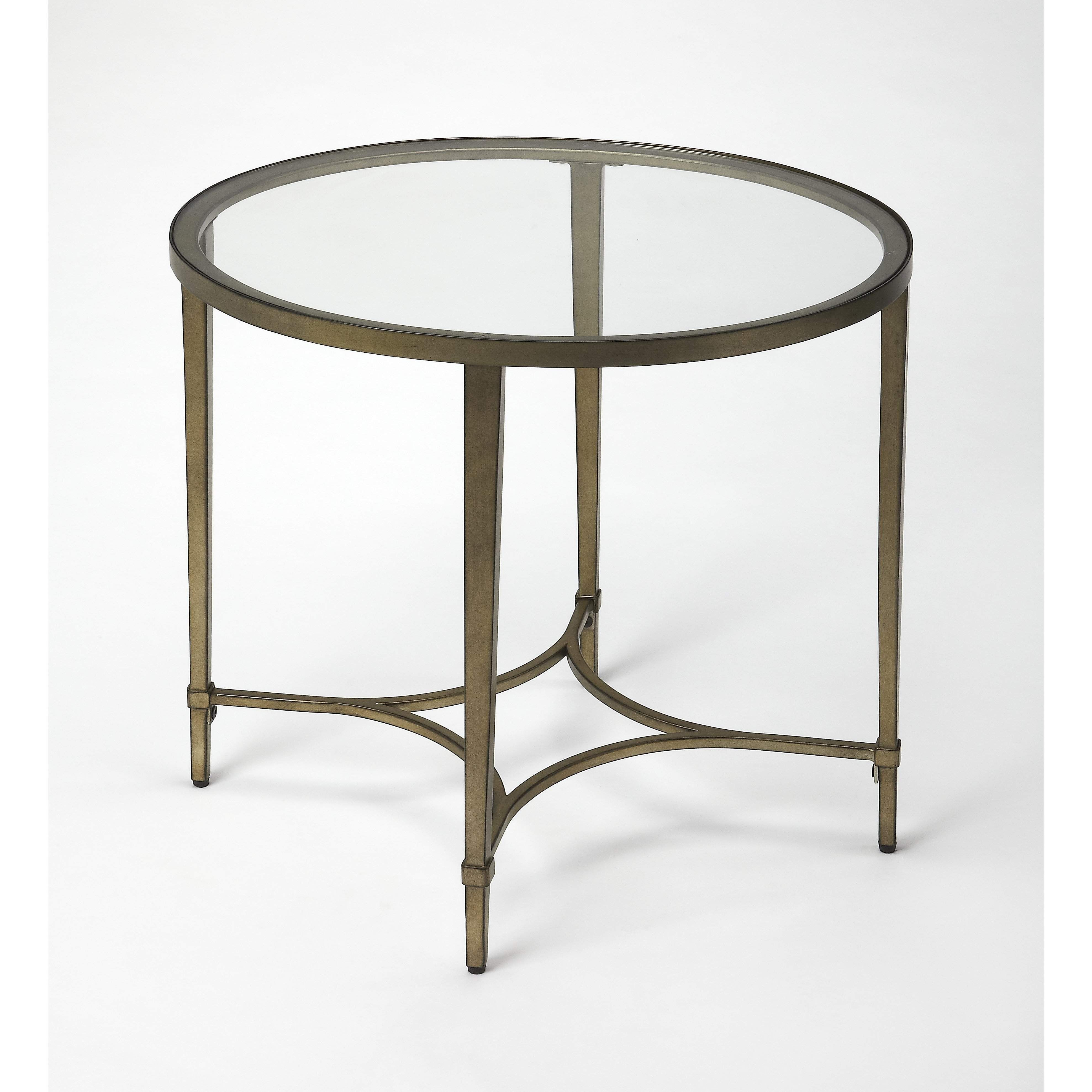 Butler Monica Gold Oval End Table 3801355