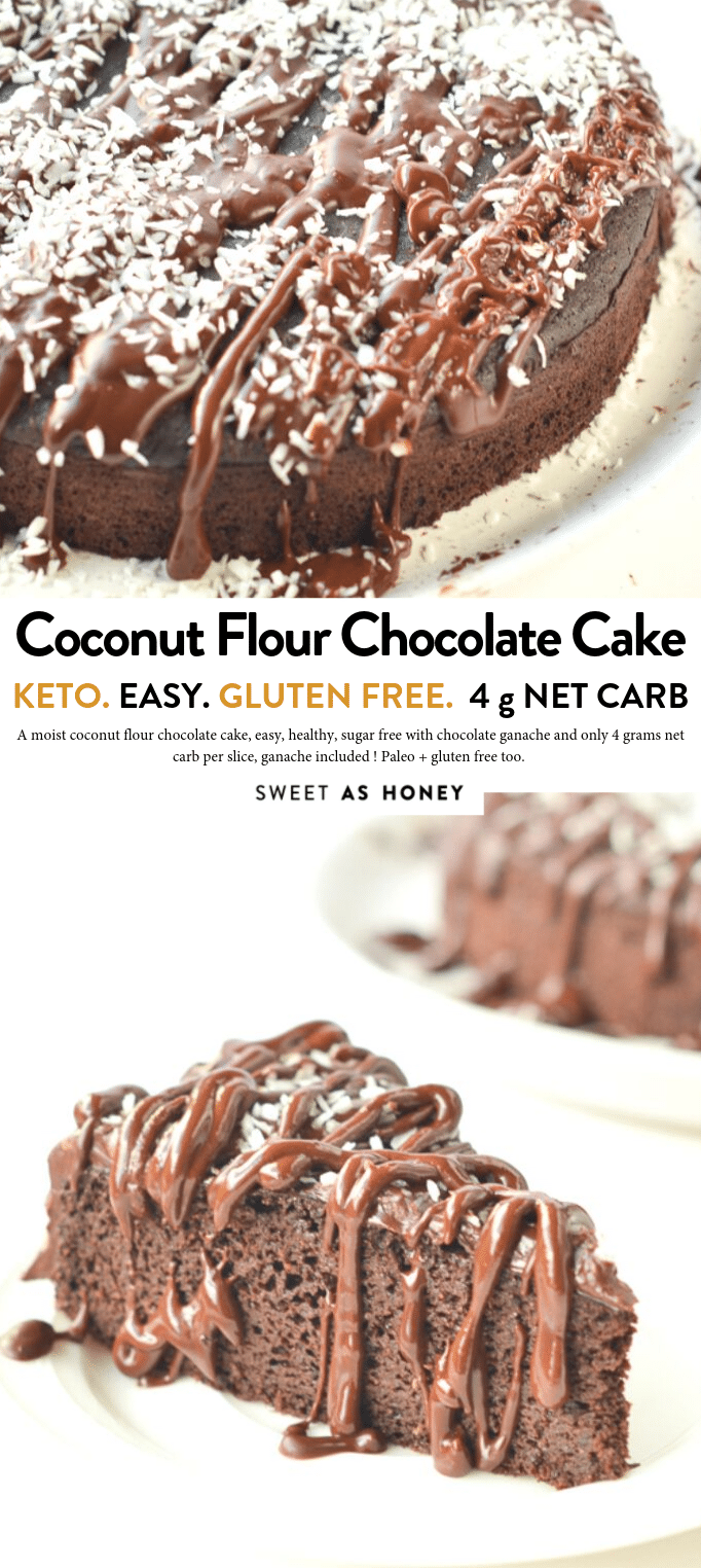 Coconut flour chocolate cake - keto + paleo - Sweetashoney