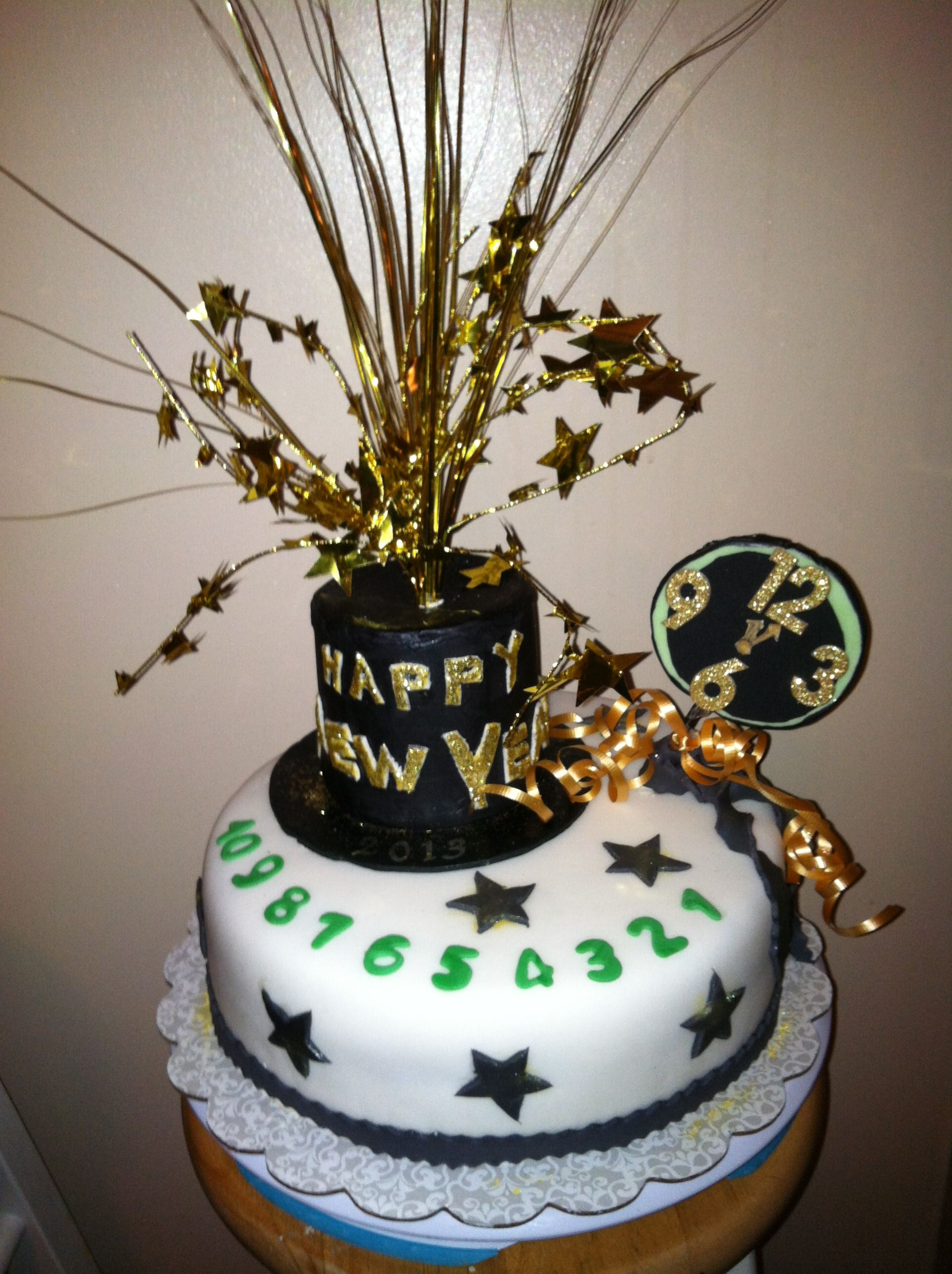 New Years Cake New Year Cake Decoration