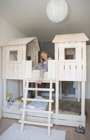 15 Amazing Treehouse Beds For Kids House Beds For Kids Kid Beds Tree House Bed