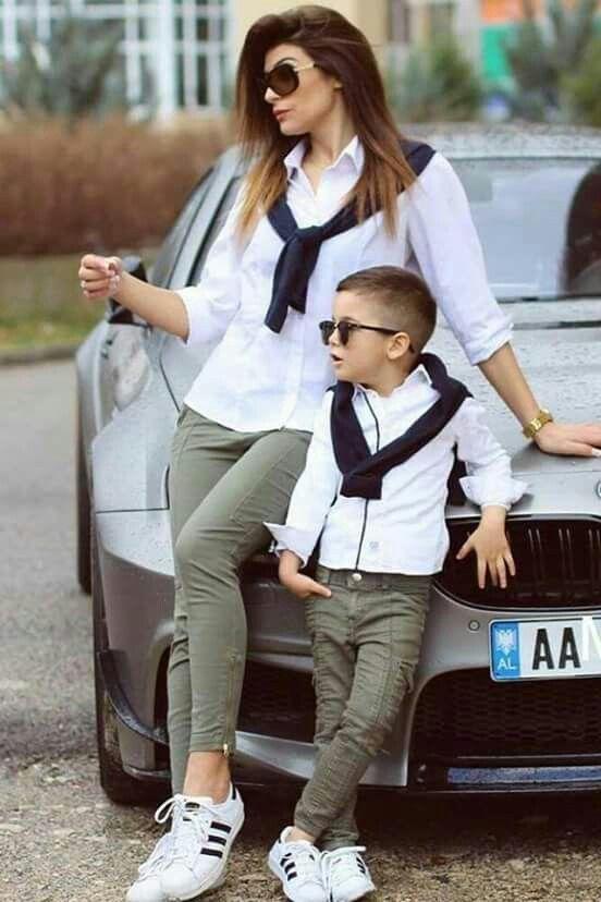 Pin By Ewa Radon On Outfits Papas E Hijos Mommy Son Outfits Kids Outfits Mommy And Me Outfits