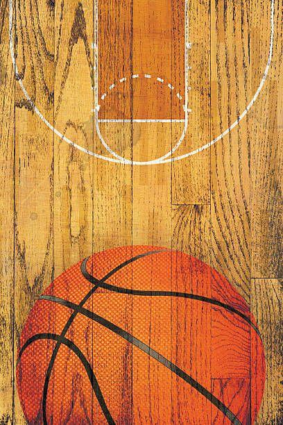 Vintage Basketball Hardwood Floor Background Scream