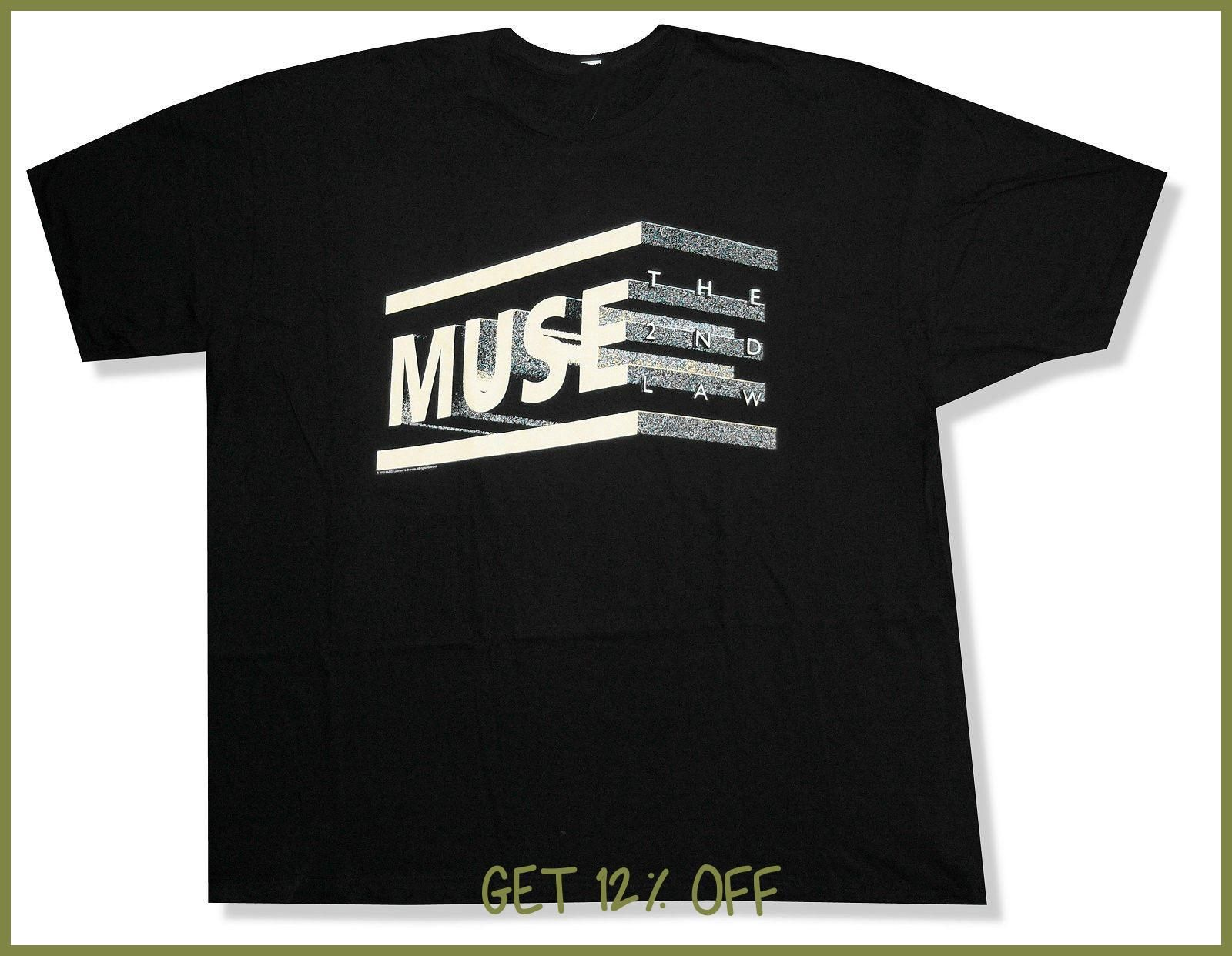 Okoufen Muse The 2nd Law Album Black T Shirt New Official Adult  # Sacudir Los Muebles Meaning