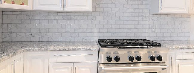 Kitchen Plans White Carrara Marble Countertops Subway