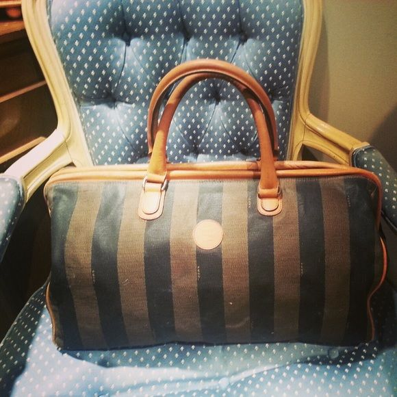 4ef3737e357d Authentic Fendi Large Overnight Duffle Bag Vintage Fendi classic stripe  duffle bag. Great vintage piece. Used for weekend trips. Authentic Fendi.