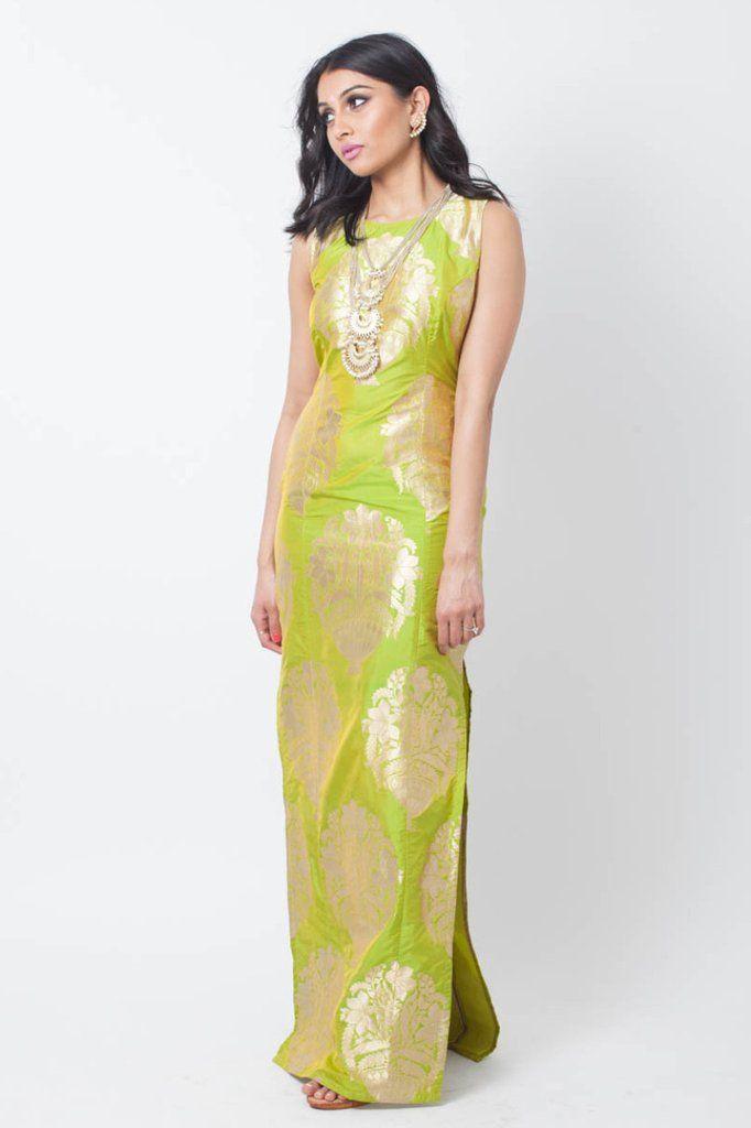 6f065b8d25f3 Brocade Maxi Dress MILA