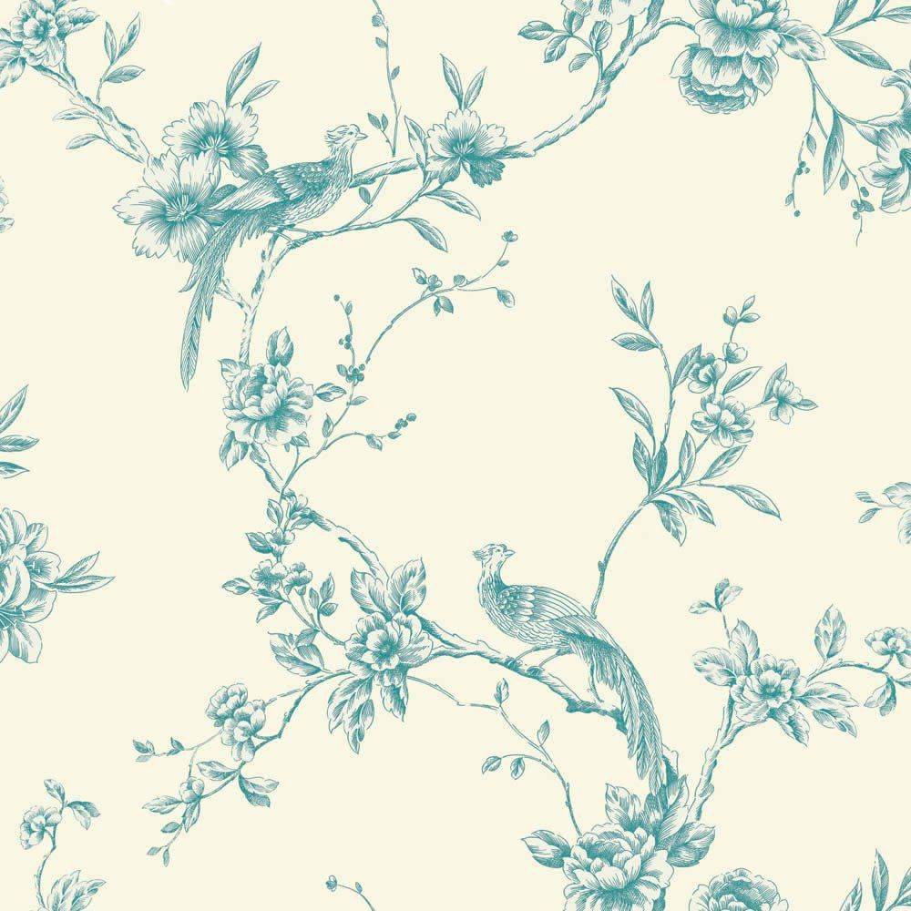 Arthouse Wallpaper Chinoise Teal Plum wallpaper, Teal