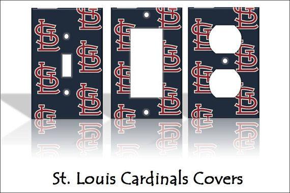 St Louis Cardinals Baseball Mlb Sports Light Switch Covers Cartoon Kids Home Decor