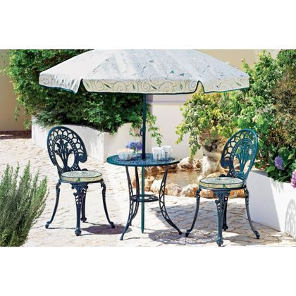 Ascot 2 Seater Bistro Patio Furniture Set   Green. At Homebase    Be  Inspired