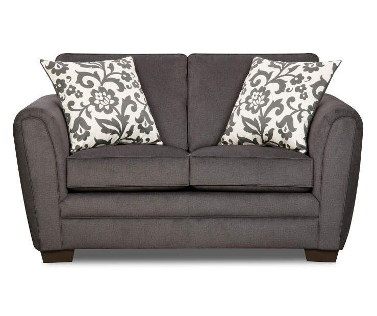 Best Flannel Charcoal Loveseat Love Seat Charcoal Sofa 400 x 300