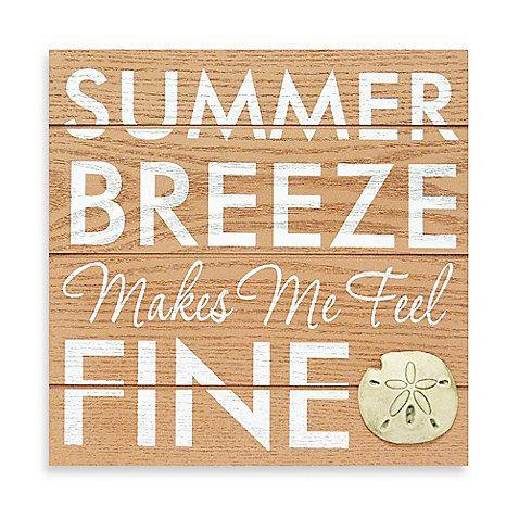 Summer Breezes Wall Plaque