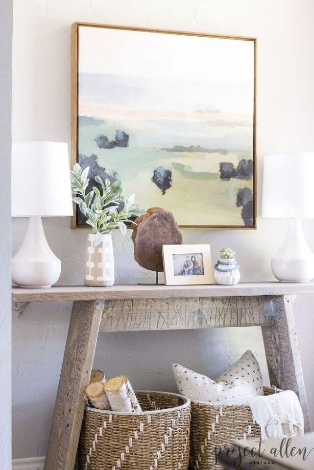 12 Chic Console Table Decorating Ideas To Freshen Up Your Decor Console Table Decorating Foyer Decorating Diy Console Table
