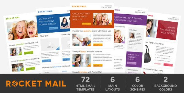 Rocket Mail  Clean  Modern Email Template  Ht Newsletter