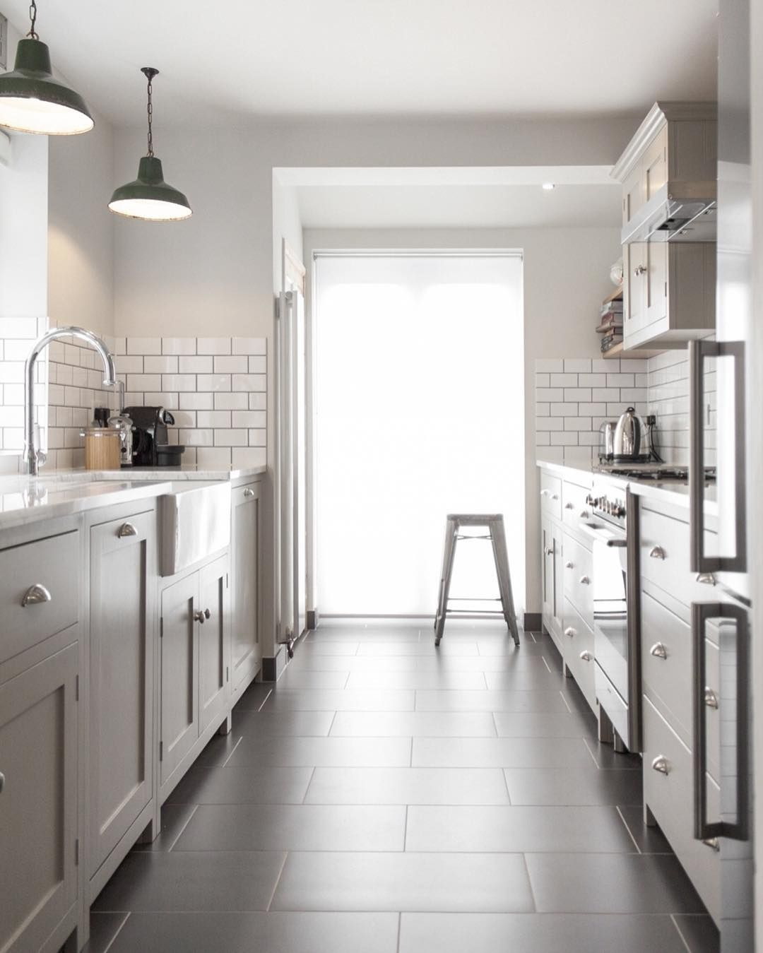 A Beautiful Example Of How To Do A Galley Kitchen In Style