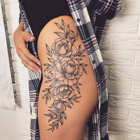 Super Nice Tattoo Design With Images Flower Thigh Tattoos Thigh Tattoos Women Hip Tattoos Women