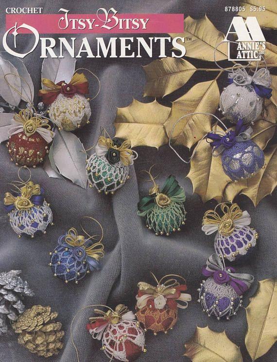 Itsy Bitsy Ornaments Annies Attic Christmas Crochet Crochet