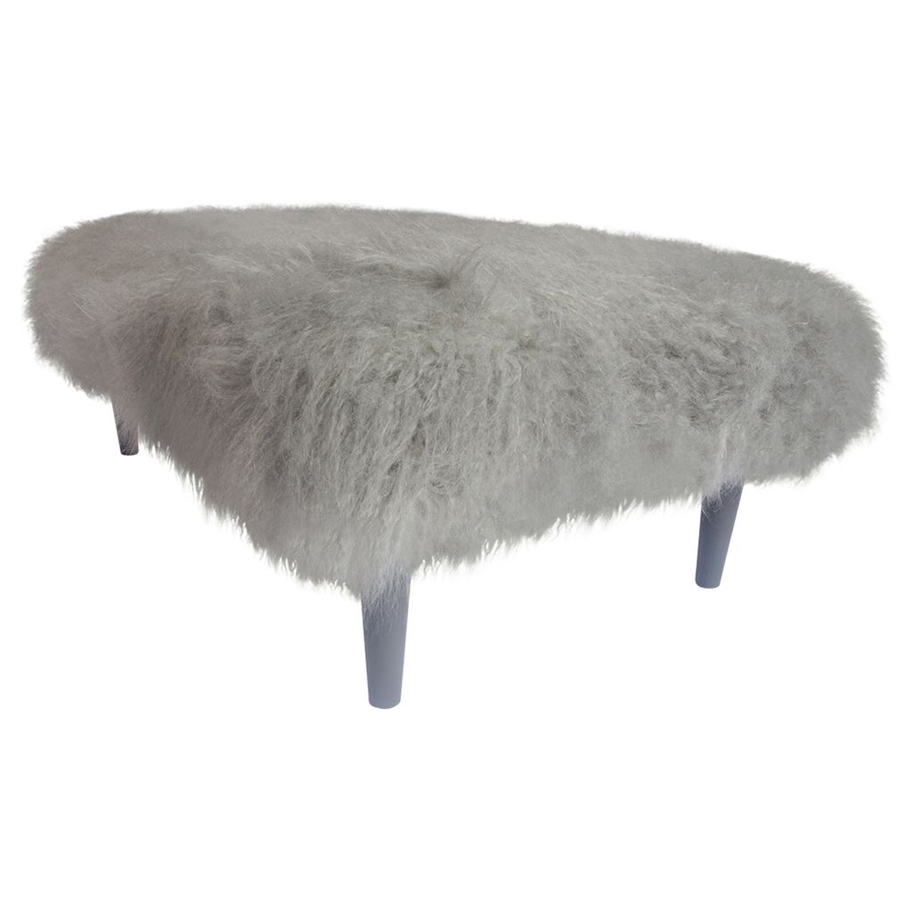 Gorgeously Glamorous Long Haired Mongolian Footstool Bench Will