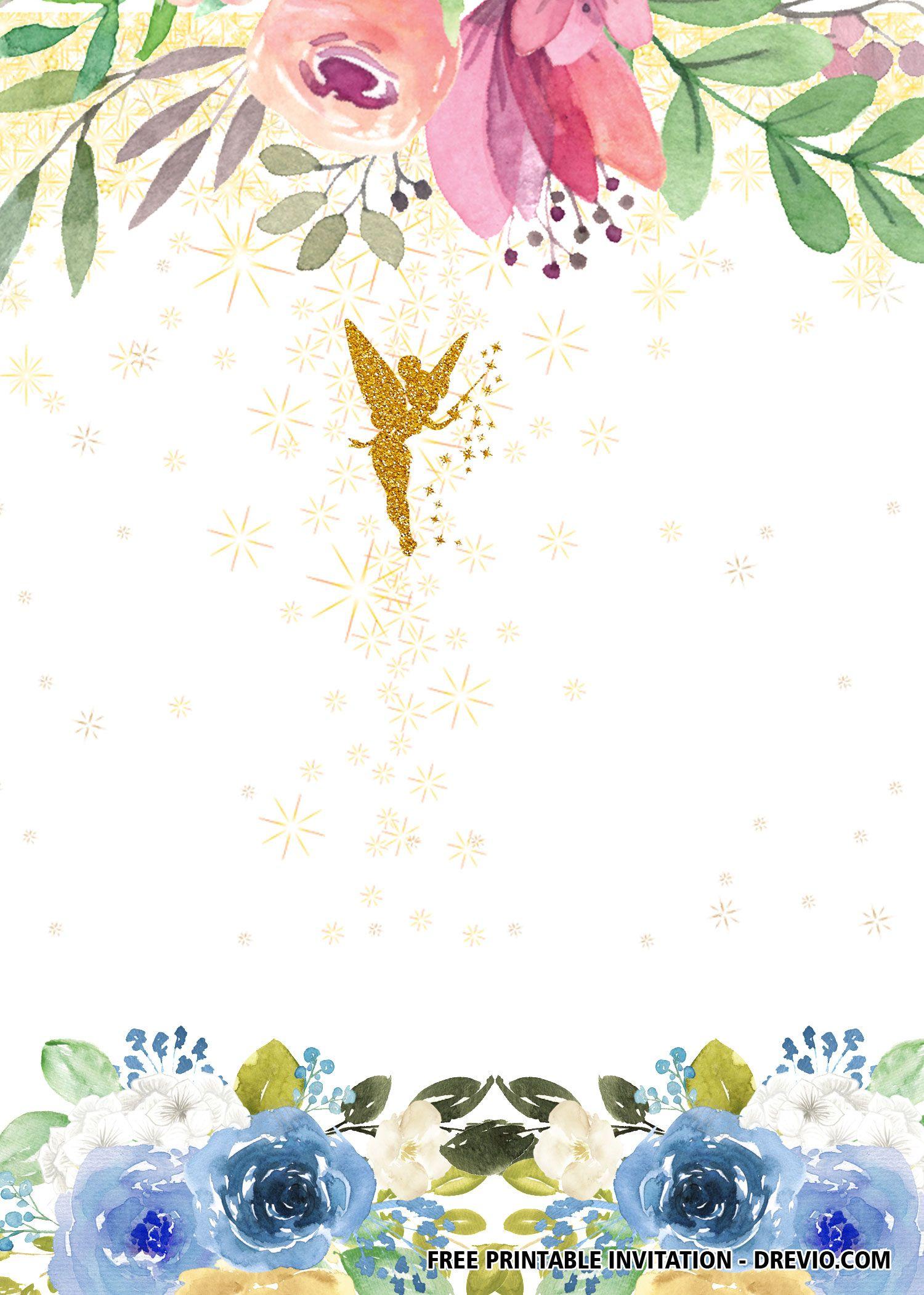 FREE Fairy Invitation Templates DREVIO Fairy