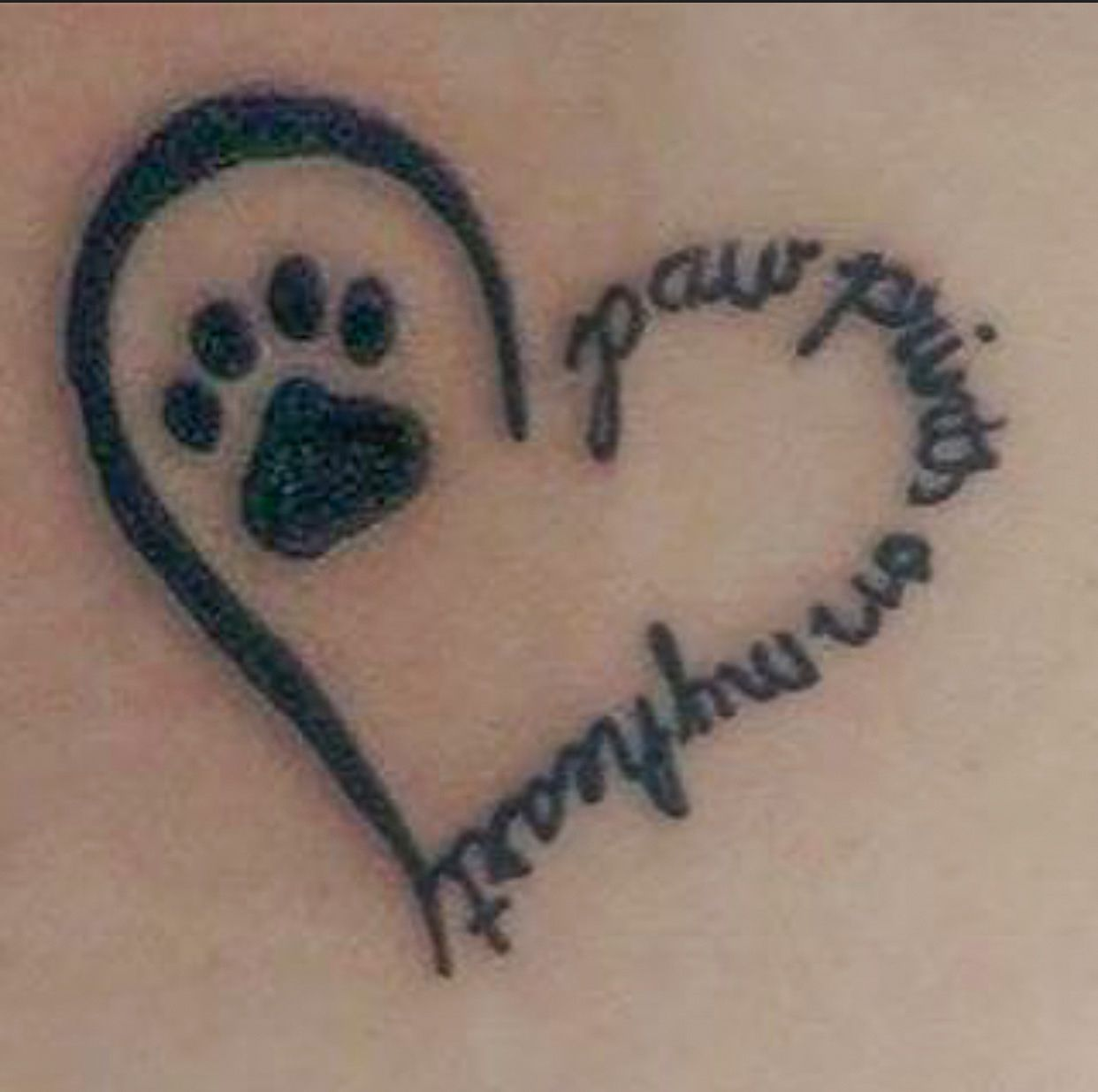 'paw prints on my heart' | Tattoo | Cat-Themed Art | Dog ...