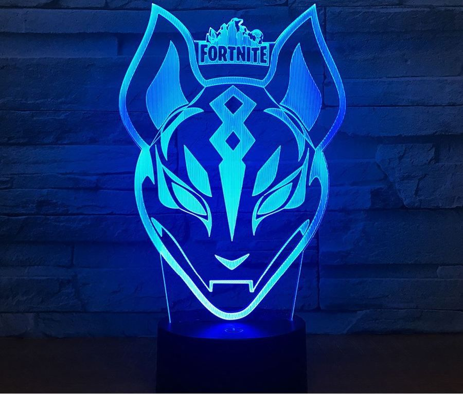 Night Light Acrylic Lamp Led Fortnite Games Tiger Christmas Gift Toy Kids 3d Night Light Night Light Christmas Gifts Toys