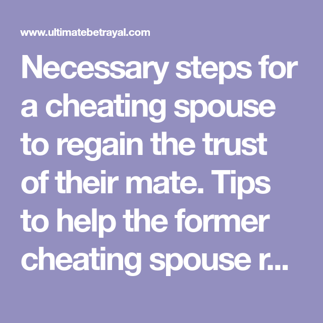 Dealing with the aftermath of infidelity...