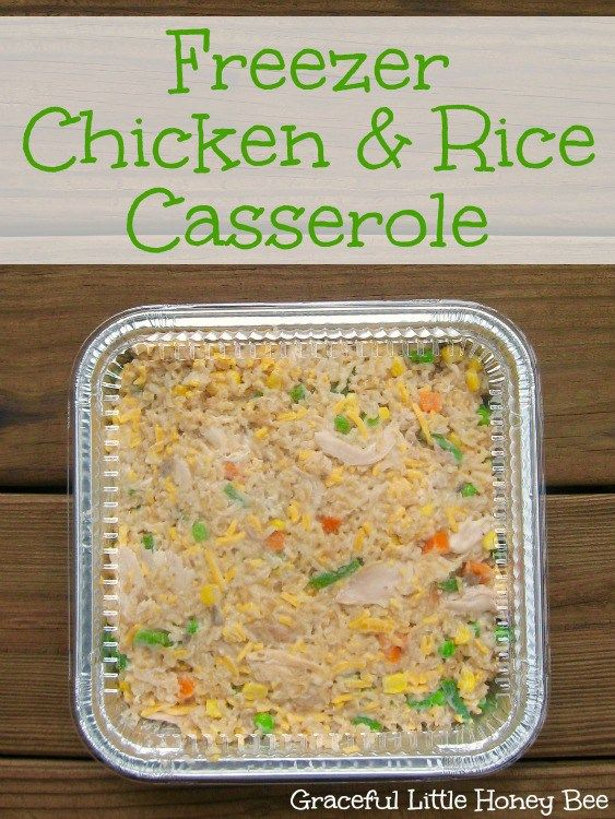 Freezer Chicken & Rice Casserole #casserolerecipes