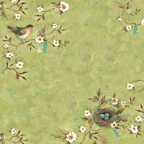 K and Company - Botanical Collection - 12 x 12 Paper with Glitter Accents - Robin at Scrapbook.com $1.49