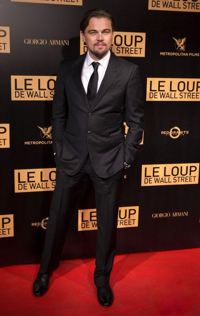 Fabulously Spotted: Leonardo DiCaprio Wearing Giorgio Armani - 'The Wolf of Wall Street' Paris Photocall - http://www.becauseiamfabulous.com/2013/12/leonardo-dicaprio-wearing-giorgio-armani-the-wolf-of-wall-street-paris-photocall/