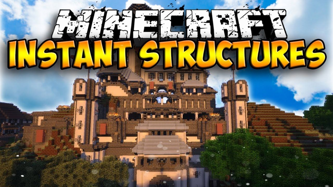 Massive Instant Structures Mod - 9.9.90 INSTANT HOUSES AND