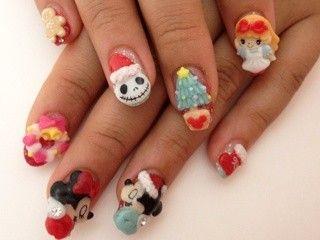 Christmas Disney nails - 79 Wonderful Disney Nail Art Designs