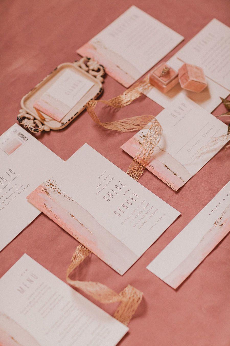 Styled Social Dallas Abstract Terracotta Ruffled Wedding Stationery Inspiration Wedding Invitation Paper Wedding Decor Elegant