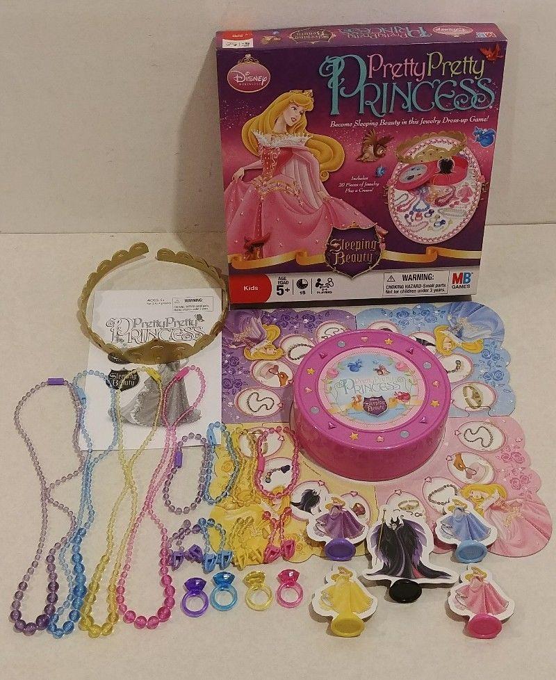 Pretty Pretty Princess Disney Sleeping Beauty Board Game 100/% Complete