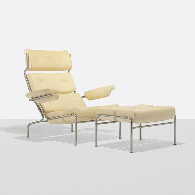Arne Jacobsen Rare TV Lounge Chair And Ottoman