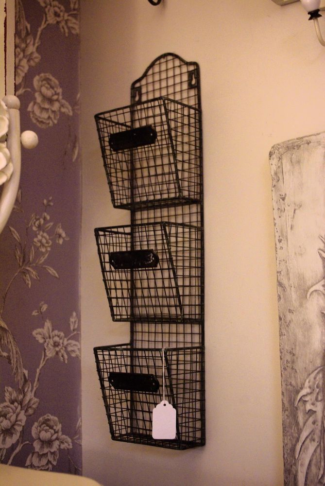 Wire Kitchen Pocket Storage 3 Basket Iron Wall Hanging Black Metal Shelving Rack In Home Furniture Diy Cookw In 2020 Metal Wall Basket Baskets On Wall Wire Baskets