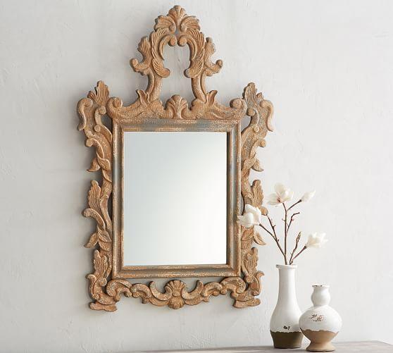 Ornate Carved Wood Mirror Wood Mirror Mirror Crafts Mirror