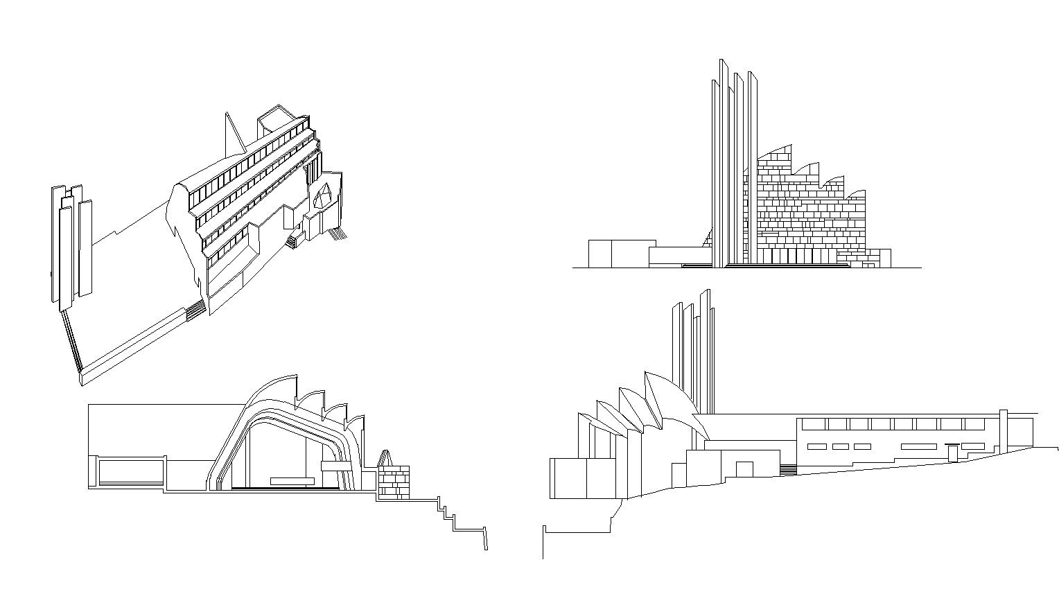 Iglesia Riola(Italia) - Alvar Aalto – CAD Design | Free