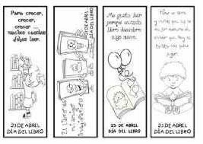 DÍA DEL LIBRO ( puntos de libro para imprimir y colorear | DIBUJO