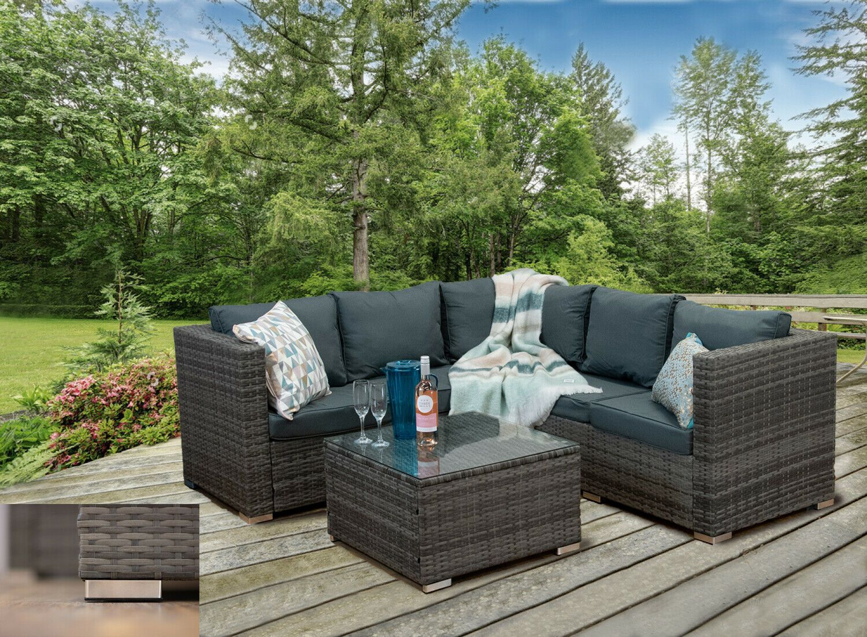 Garden Corner Sofa in 2020 | Rattan garden furniture sets ...