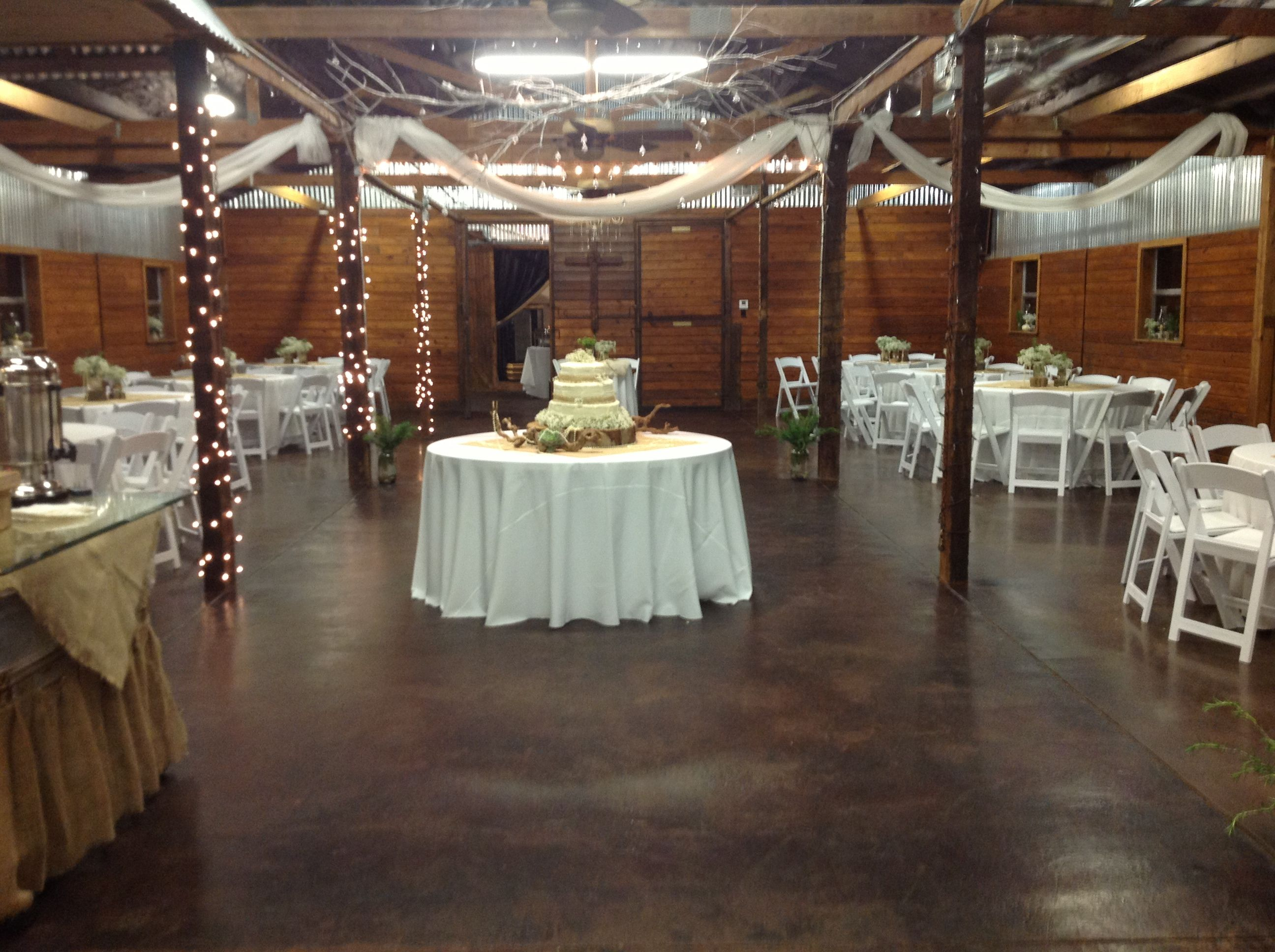 Barn Reception is so in style right now.  Intimate, unique warm setting.