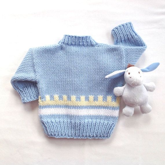 Fair Isle Baby cardigan - 0 to 6 months - Baby boy sweater - Baby ...