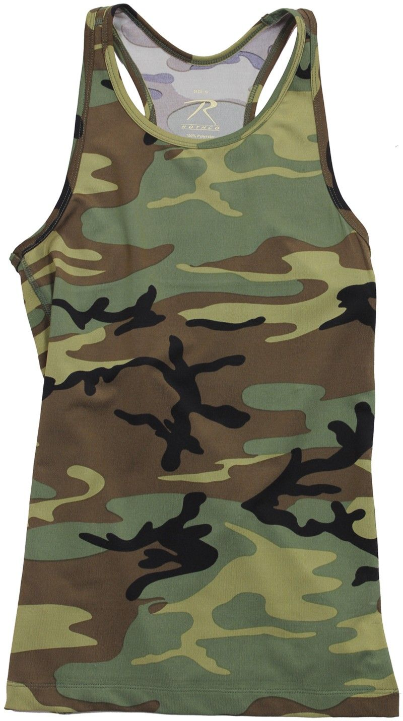 df50501f4cb486 Womens Woodland Camouflage Performance Workout Tank Top | 44080 | $11.99