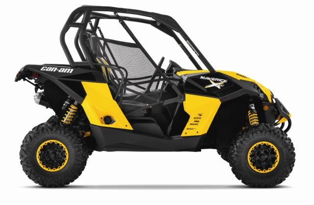 2015 Can Am Maverick 1000r X Xc Black And Yellow Side Atv Can Am Atv Exhaust