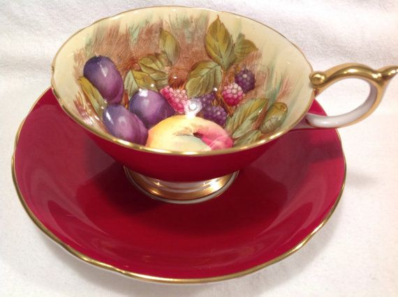 Signed by D Jones Aynsley tea cup and saucer by JoyJoeTreasures, $59.00